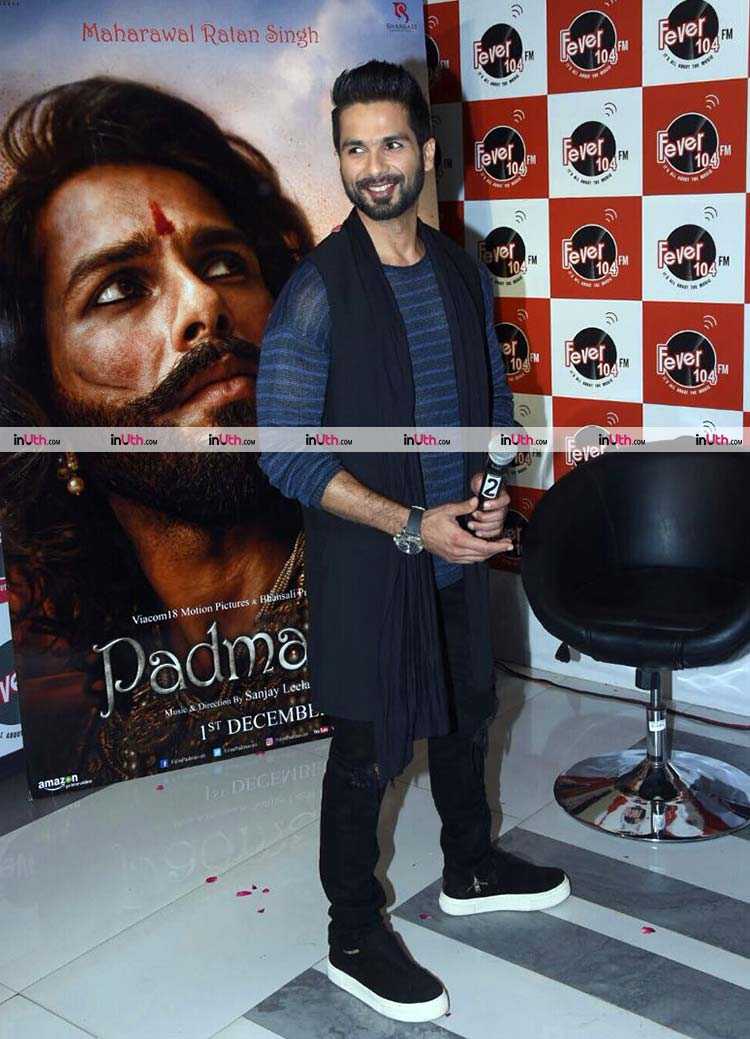 Shahid Kapoor at 104 FM for Padmavati promotions