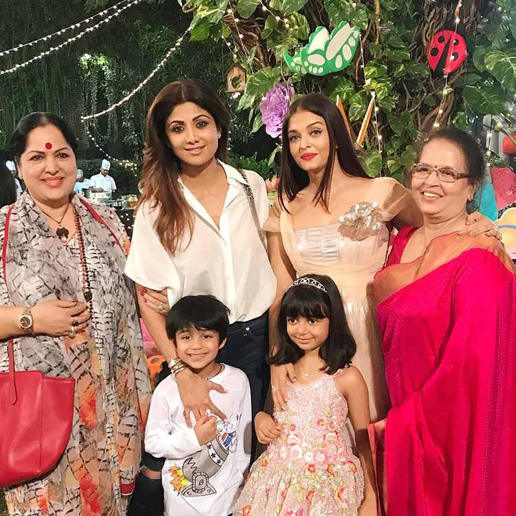 Shilpa Shetty at Aaradhya Bachchan's birthday party