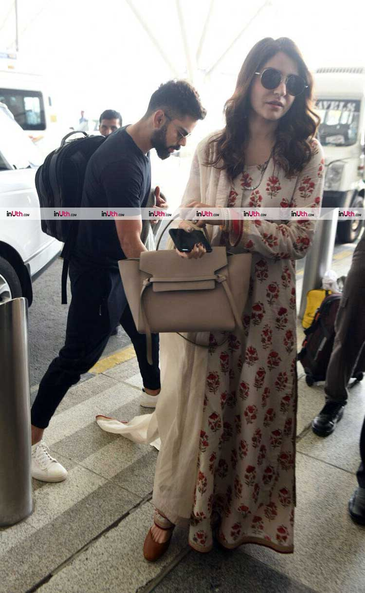 Virat Kohli and Anushka Sharma snapped at the Mumbai airport