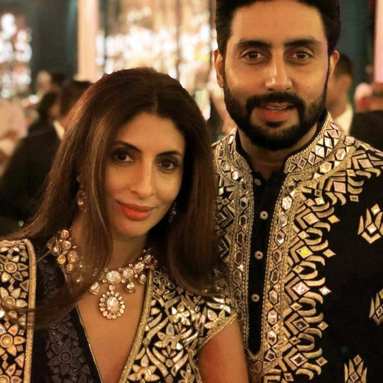 Abhishek Bachchan with sister Shweta Nanda at a family wedding