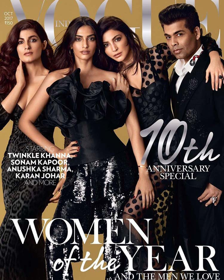 Anushka Sharma on the cover of Vogue 10th anniversary special