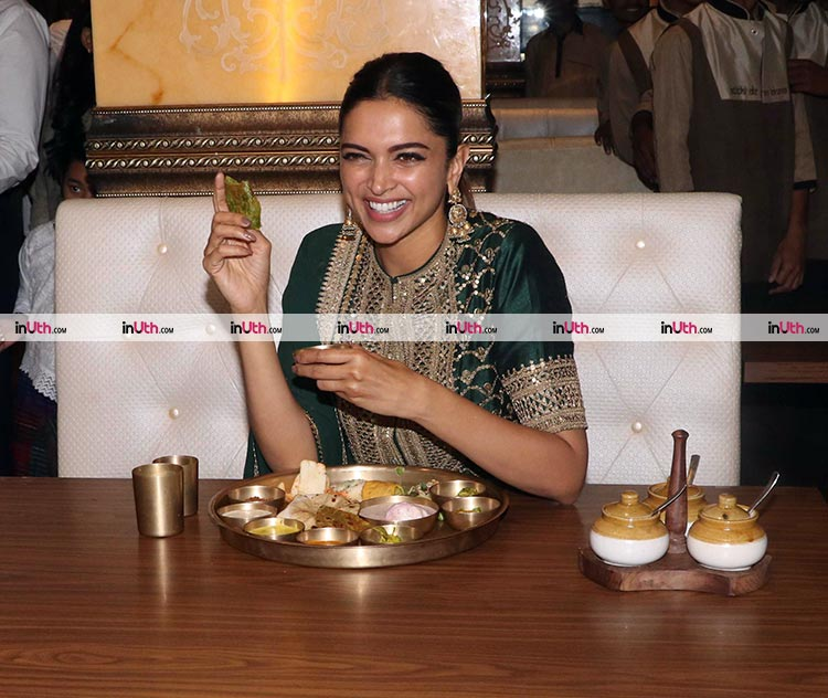 Deepika Padukone snapped with her Rajasthani thali after Padmaavat release