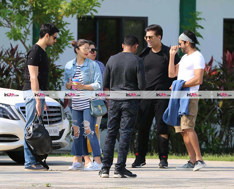Karan Johar, Alia Bhatt, Sidharth Malhotra and Farhan Akhtar head home after the party