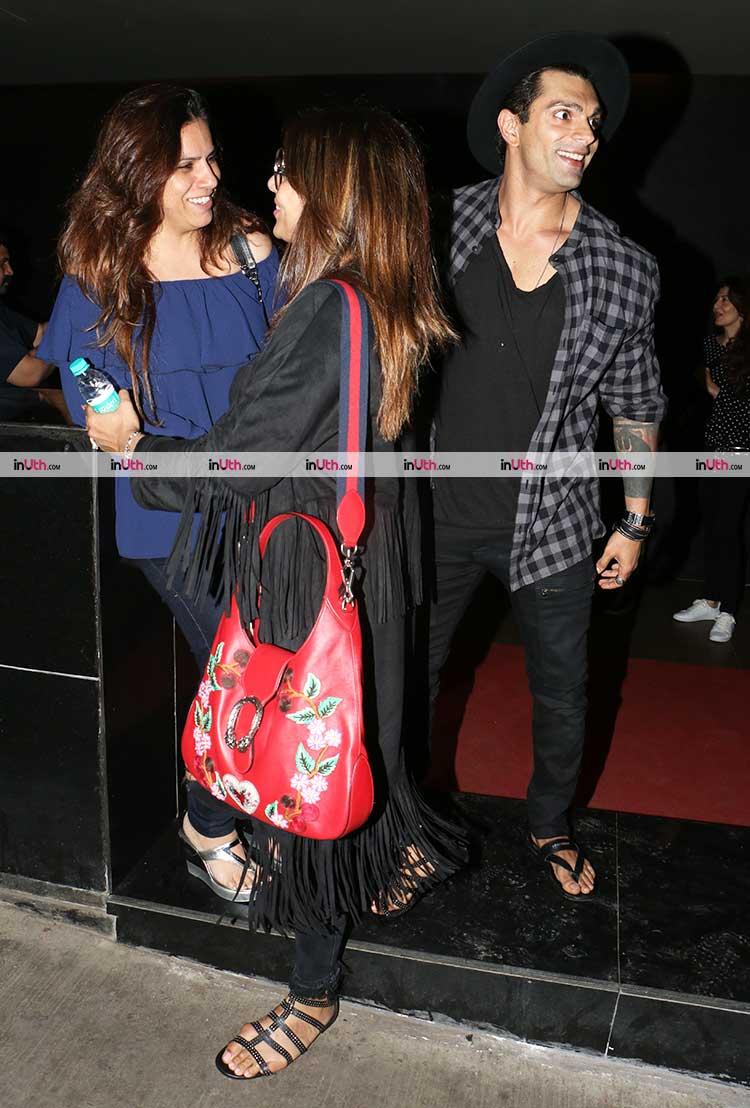 Karan Singh Grover and Bipasha Basu with a friend