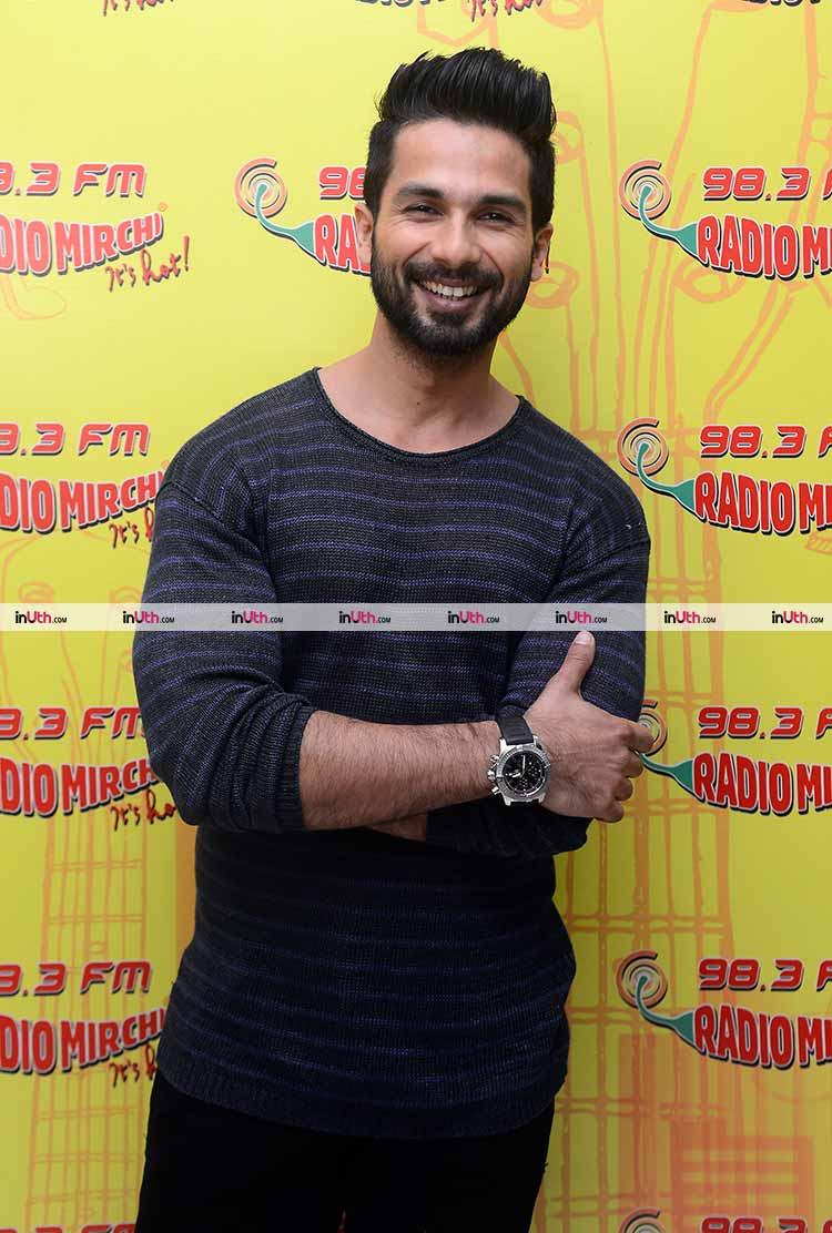 Padmavati actor Shahid Kapoor at Radio Mirchi