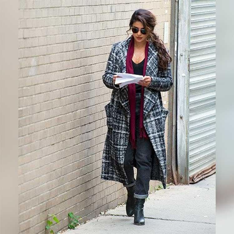 Priyanka Chopra reading her lines for Quantico 3