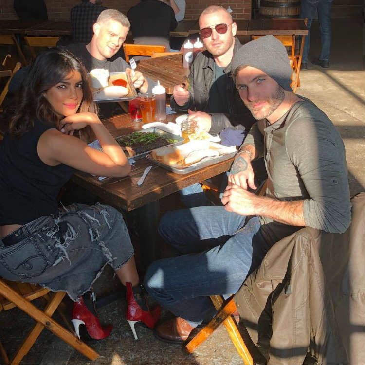 Priyanka Chopra spending some fun time with her Quantico team