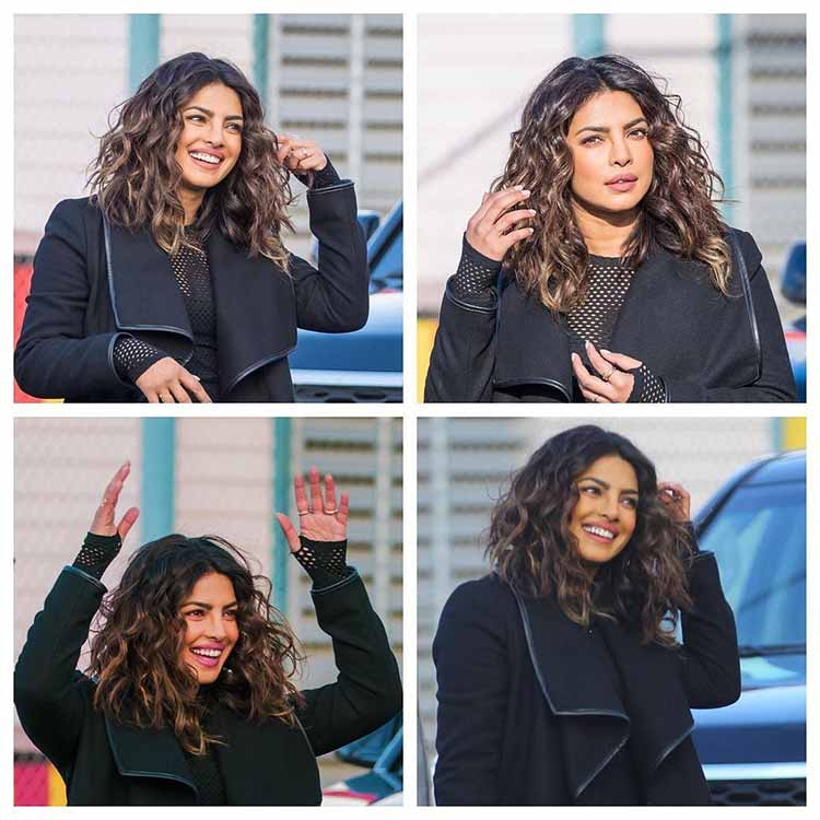 Quantico girl Priyanka Chopra can't keep her hands off her hair