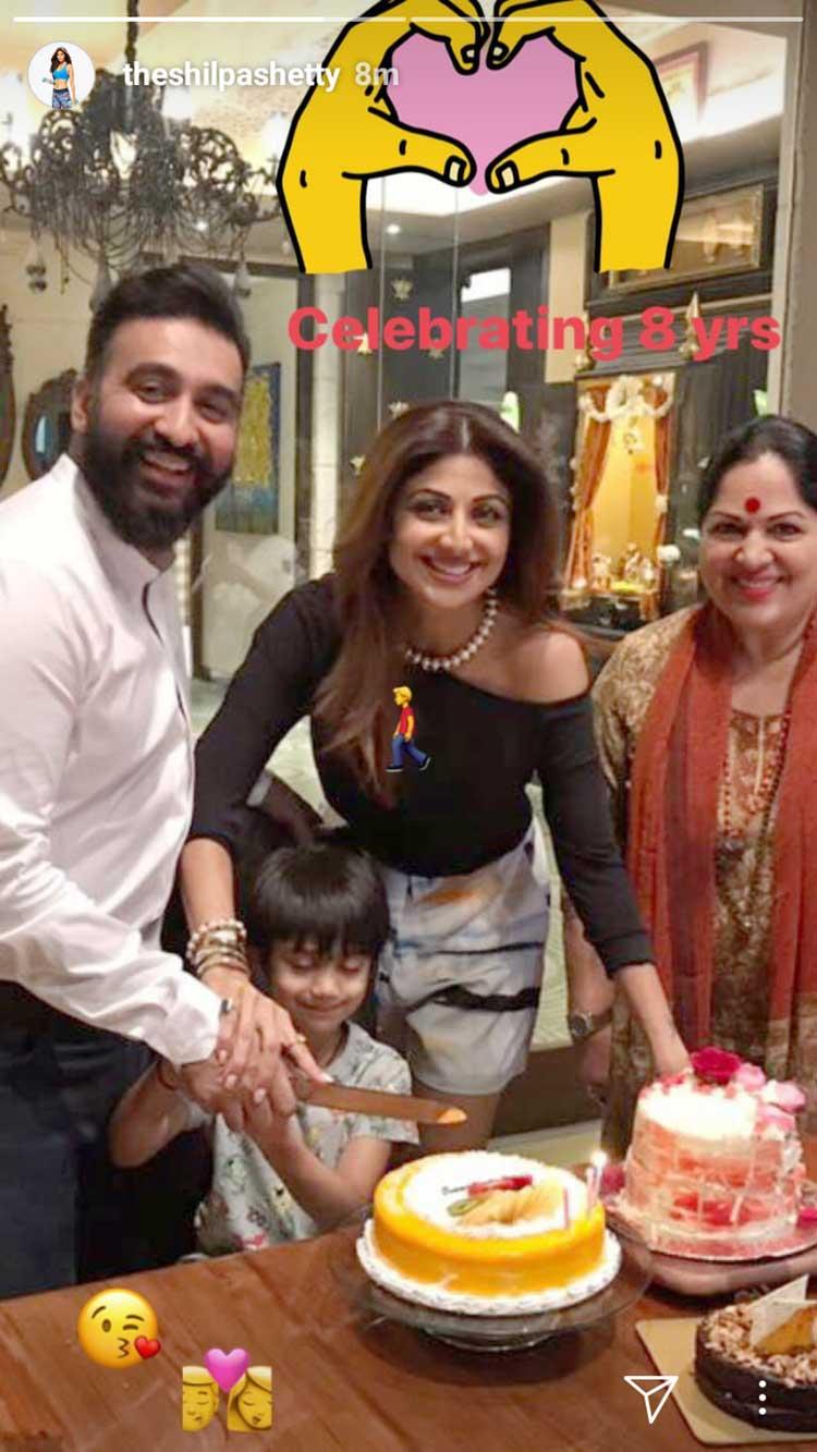 Shilpa Shetty-Raj Kundra wedding anniversary celebration photos