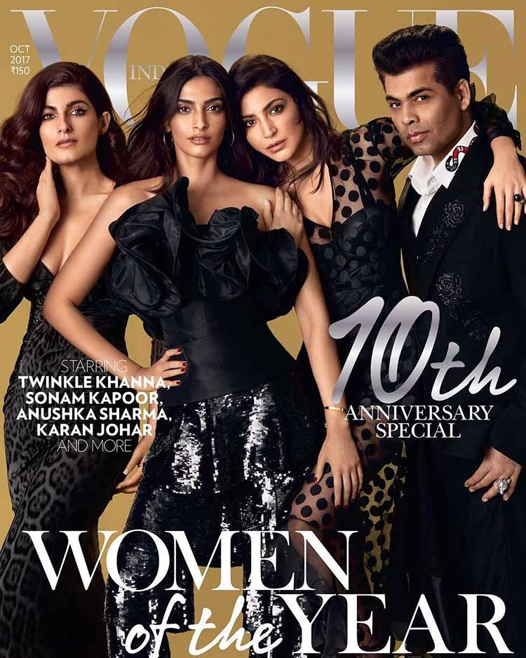 Sonam Kapoor on the cover of Vogue October 2017 issue