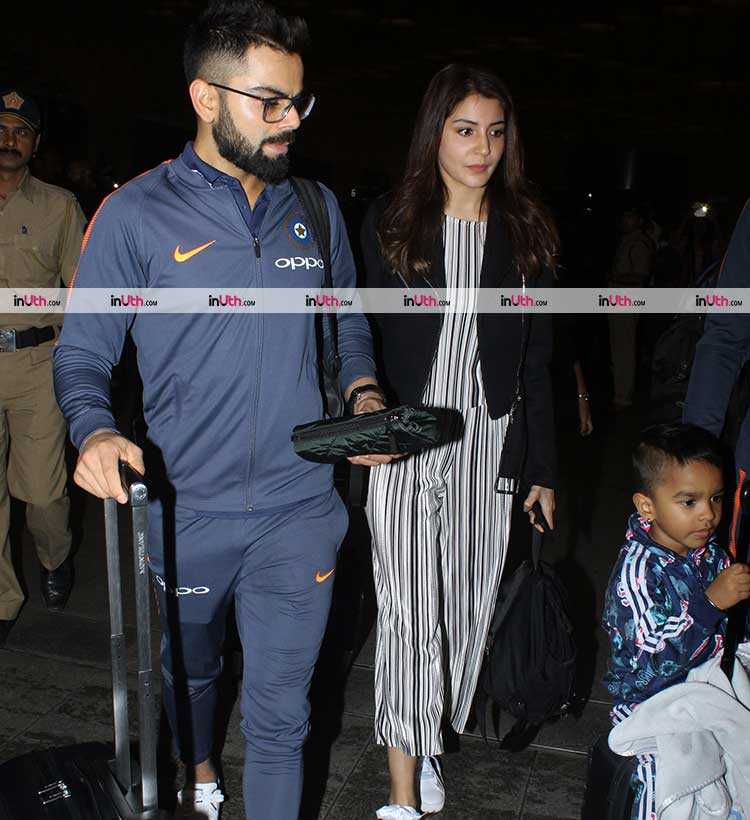 Virat Kohli and Anushka Sharma leaving for South Africa