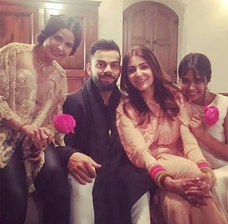 Virat Kohli and Anushka Sharma snapped posed their wedding