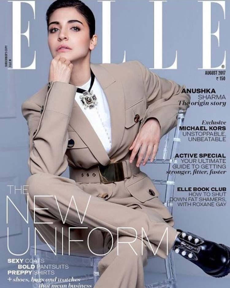 Anushka Sharma on the cover of Elle August 2017 magazine