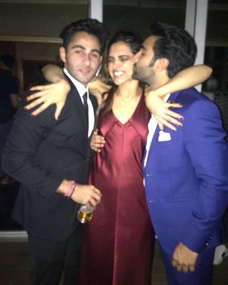 Deepika Padukone with the Jain brothers at her Padmavati party