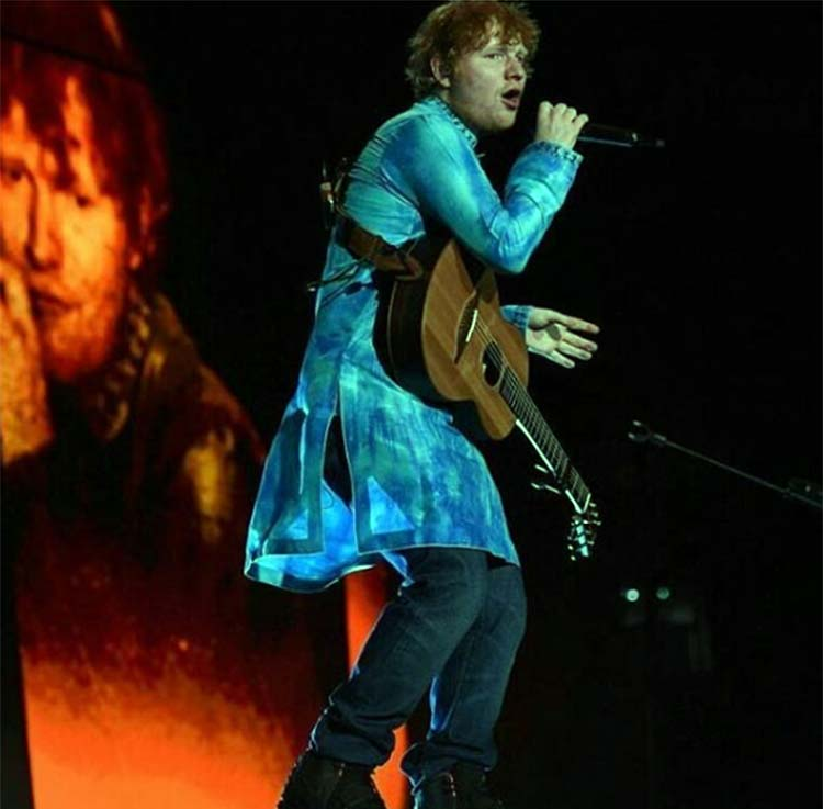 Ed Sheeran snapped on stage during his Mumbai concert