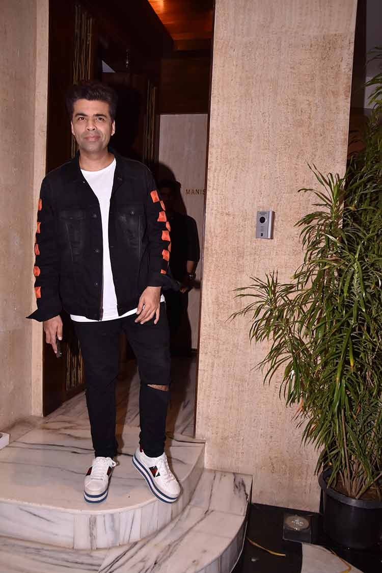 Karan Johar at Manish Malhotra's house party