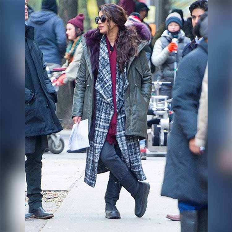 Priyanka Chopra slaying on the sets of Quantico 3 in New York