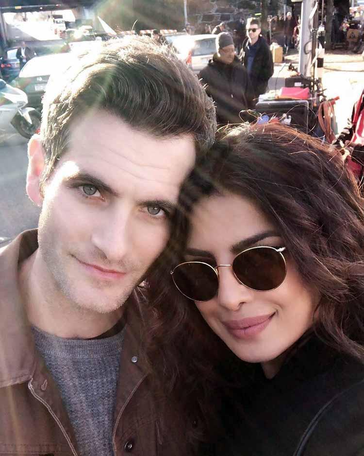 Priyanka Chopra with her newest Quantico 3 co-star Alan Powell