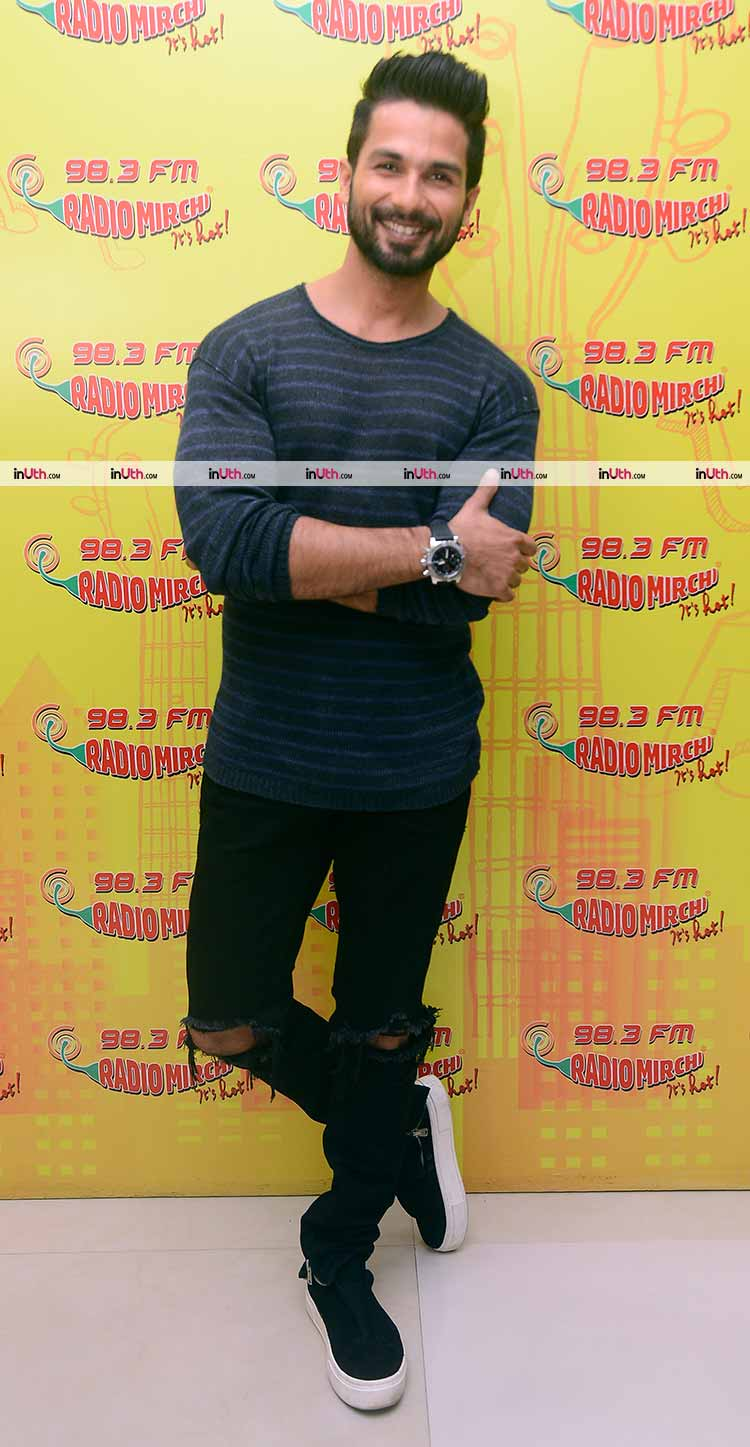 Shahid Kapoor's casual look for Padmavati promotions at Radio Mirchi