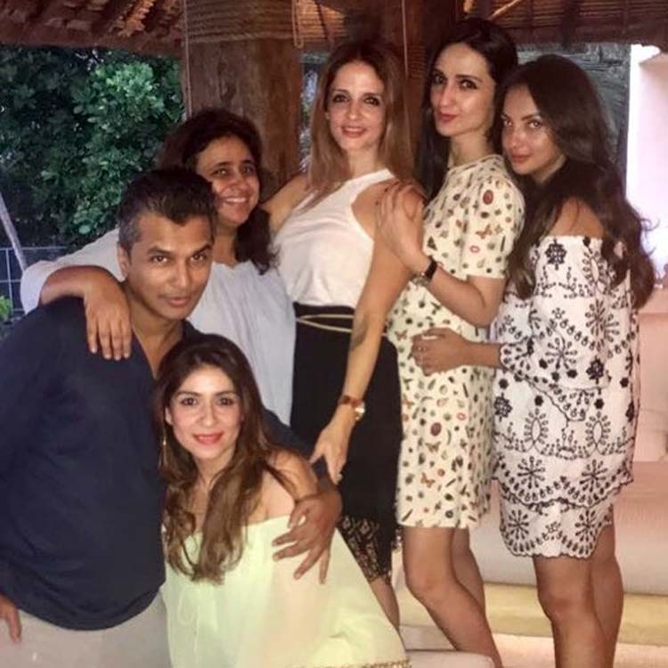 Sussanne Khan at Shah Rukh Khan's birthday party