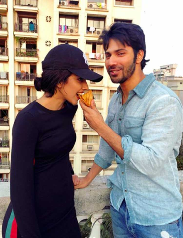 Varun Dhawan and Banita Sandhu on a samosa date