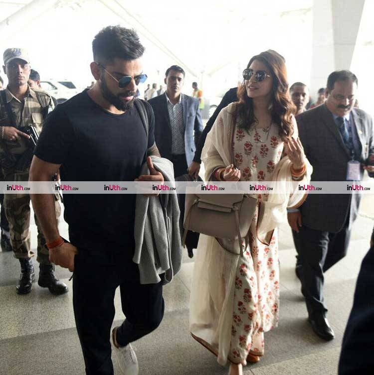 Virat Kohli and Anushka Sharma's cute pic from the airport