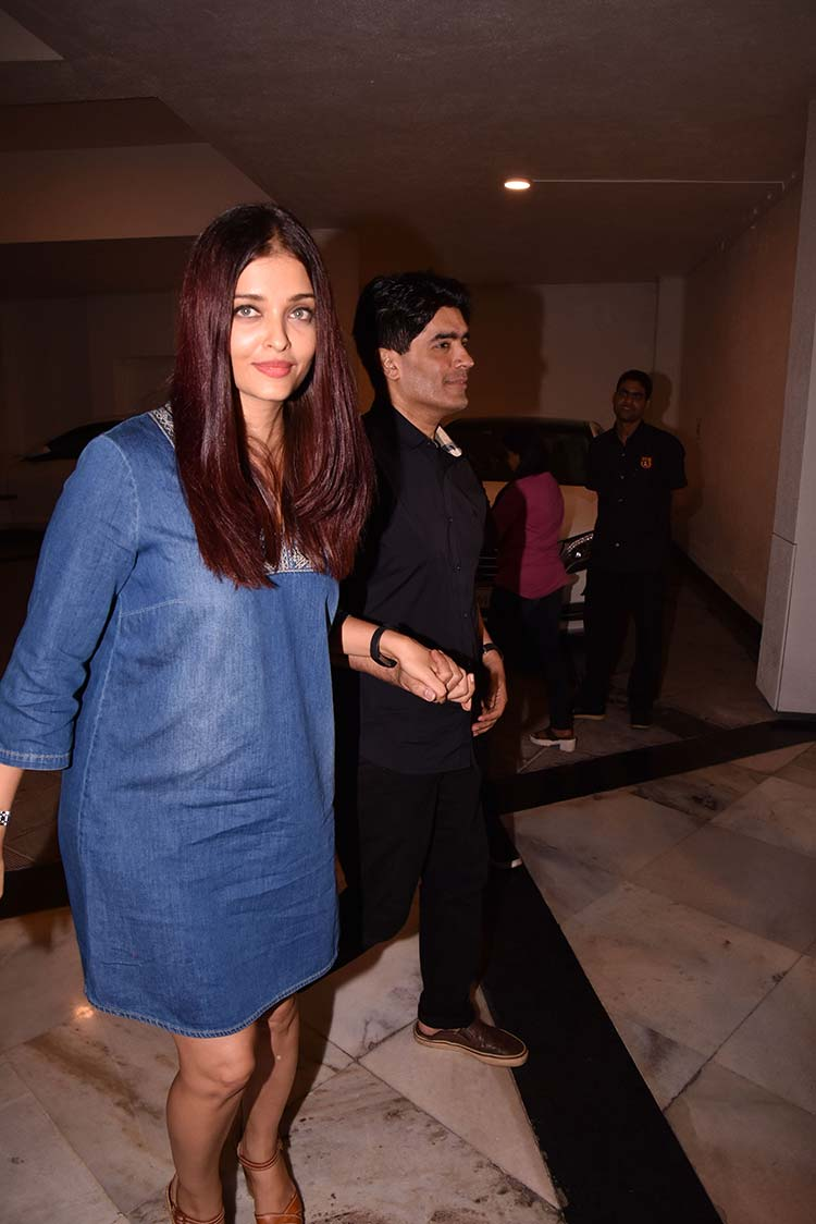 Aishwarya Rai with Manish Malhotra at his house party