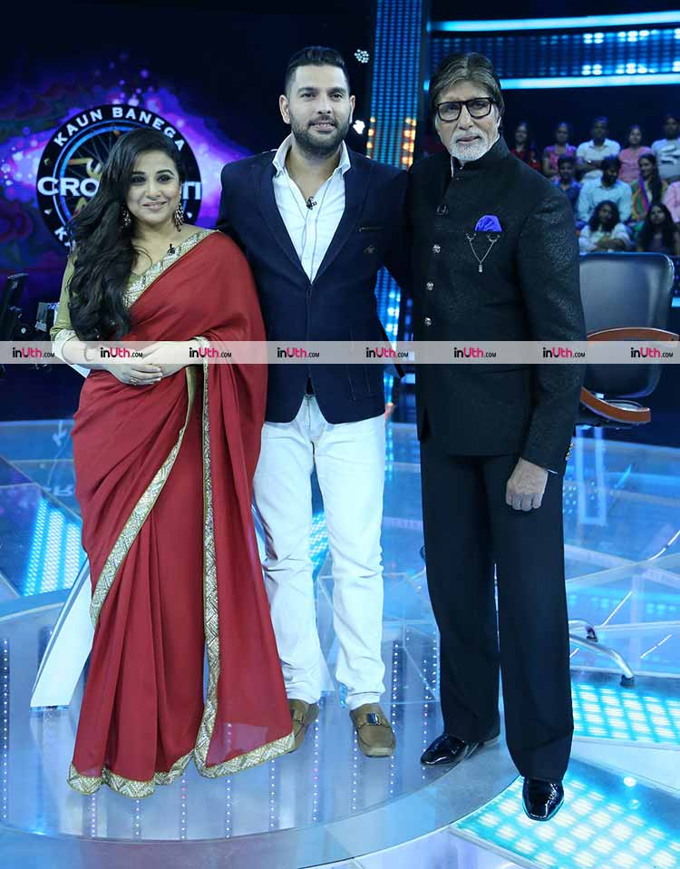 Amitabh Bachchan, Yuvraj Singh, Vidya Balan at Kaun Banega Crorepati 9 finale