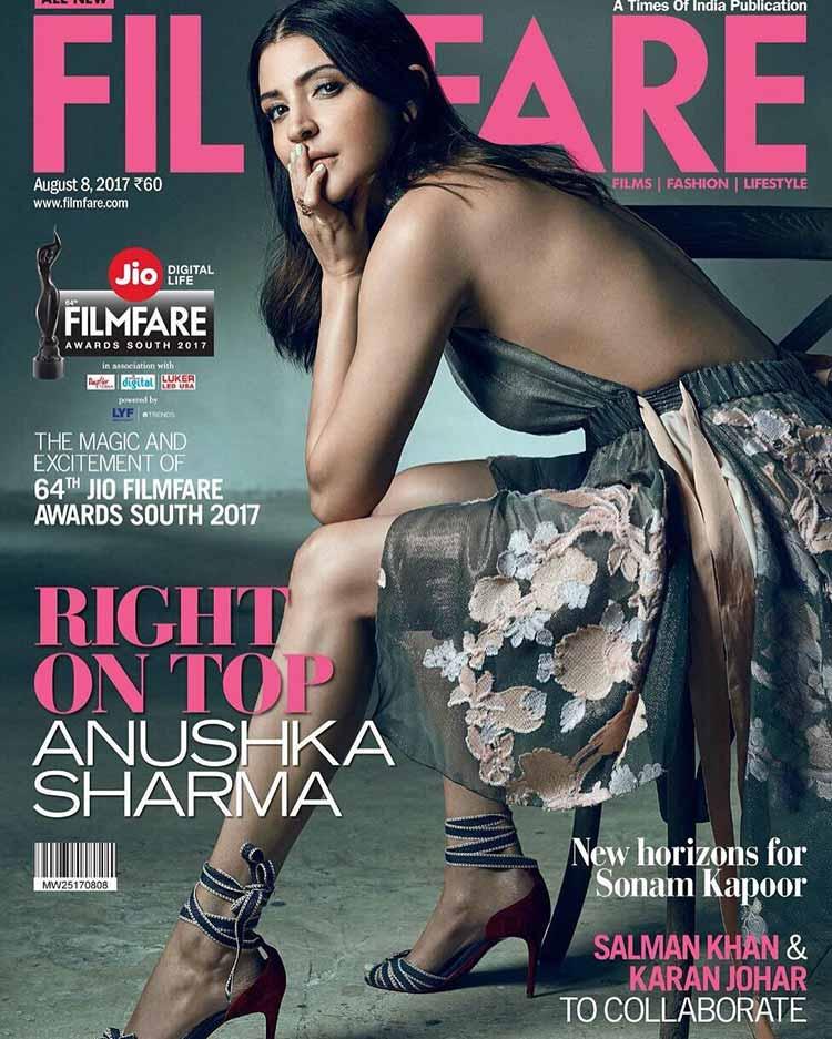 Anushka Sharma on Filmfare August 2017 cover