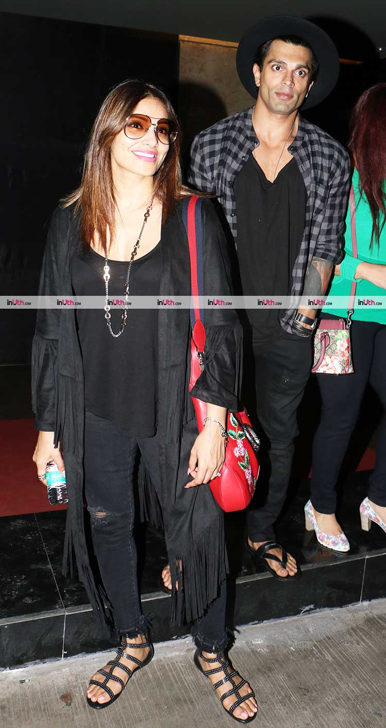 Bipasha Basu and Karan Singh Grover posing for the camera
