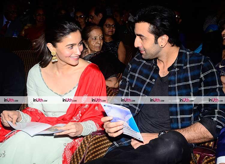 Brahmastra stars Alia Bhatt and Ranbir Kapoor caught candid at an event
