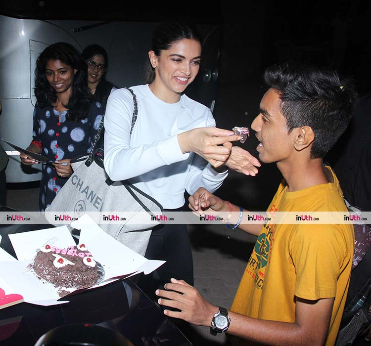 Deepika Padukone with a fan
