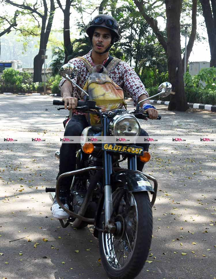 Ishaan Khatter spotted on a bike in Goa