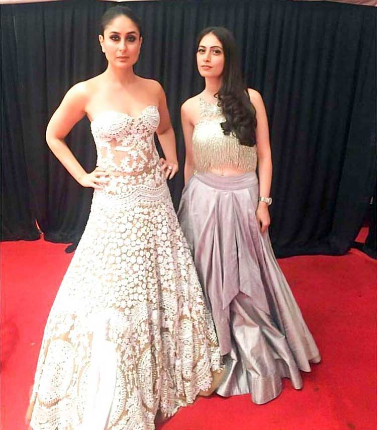 Kareena Kapoor with her stylist Sanna Andani