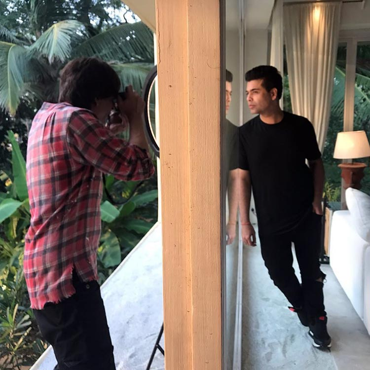 Shah Rukh Khan turns photographer for friend Karan Johar