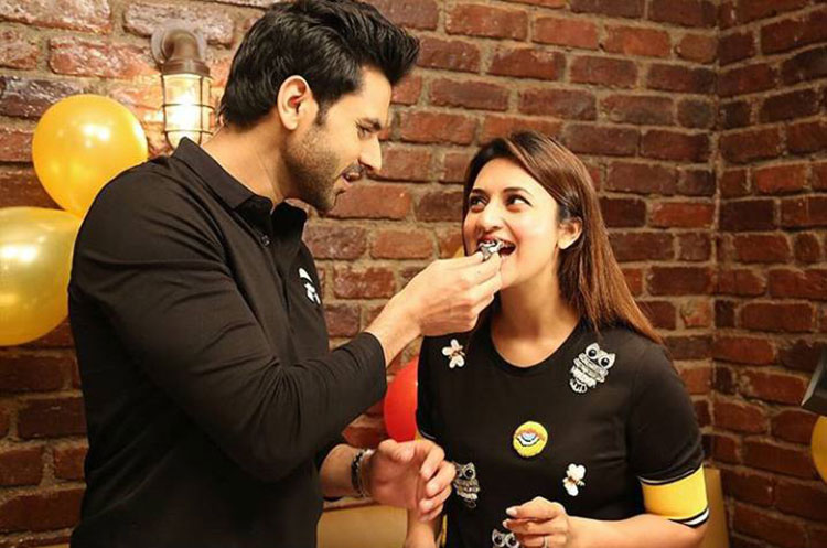 Vivek Dahiya treating wife Divyanka Tripathi with his birthday cake