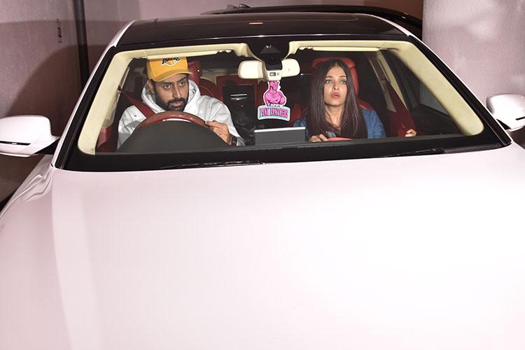 Aishwarya Rai and Abhishek Bachchan at Manish Malhotra's house