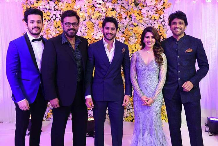 Daggubati Venkatesh at Samantha and Naga Chaitanya's wedding reception