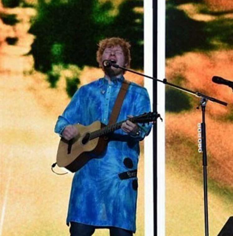Ed Sheeran performed live in Mumbai on Sunday
