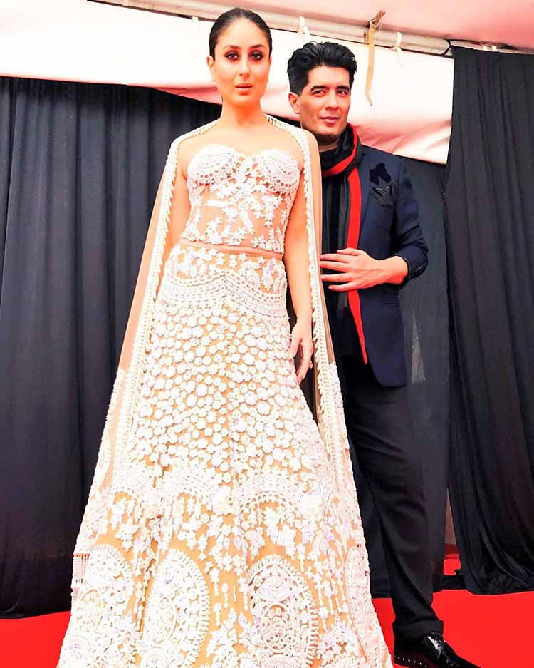 Kareena Kapoor with Manish Malhotra in Kenya for a fashion show