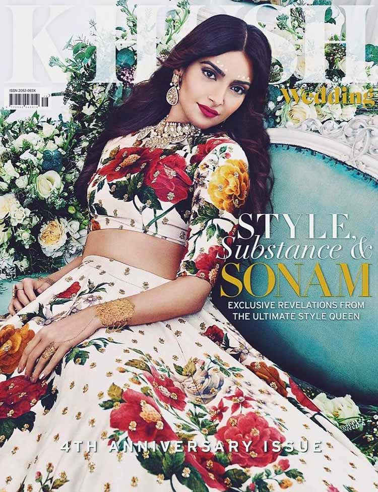 Sonam Kapoor on the cover of Khush magazine