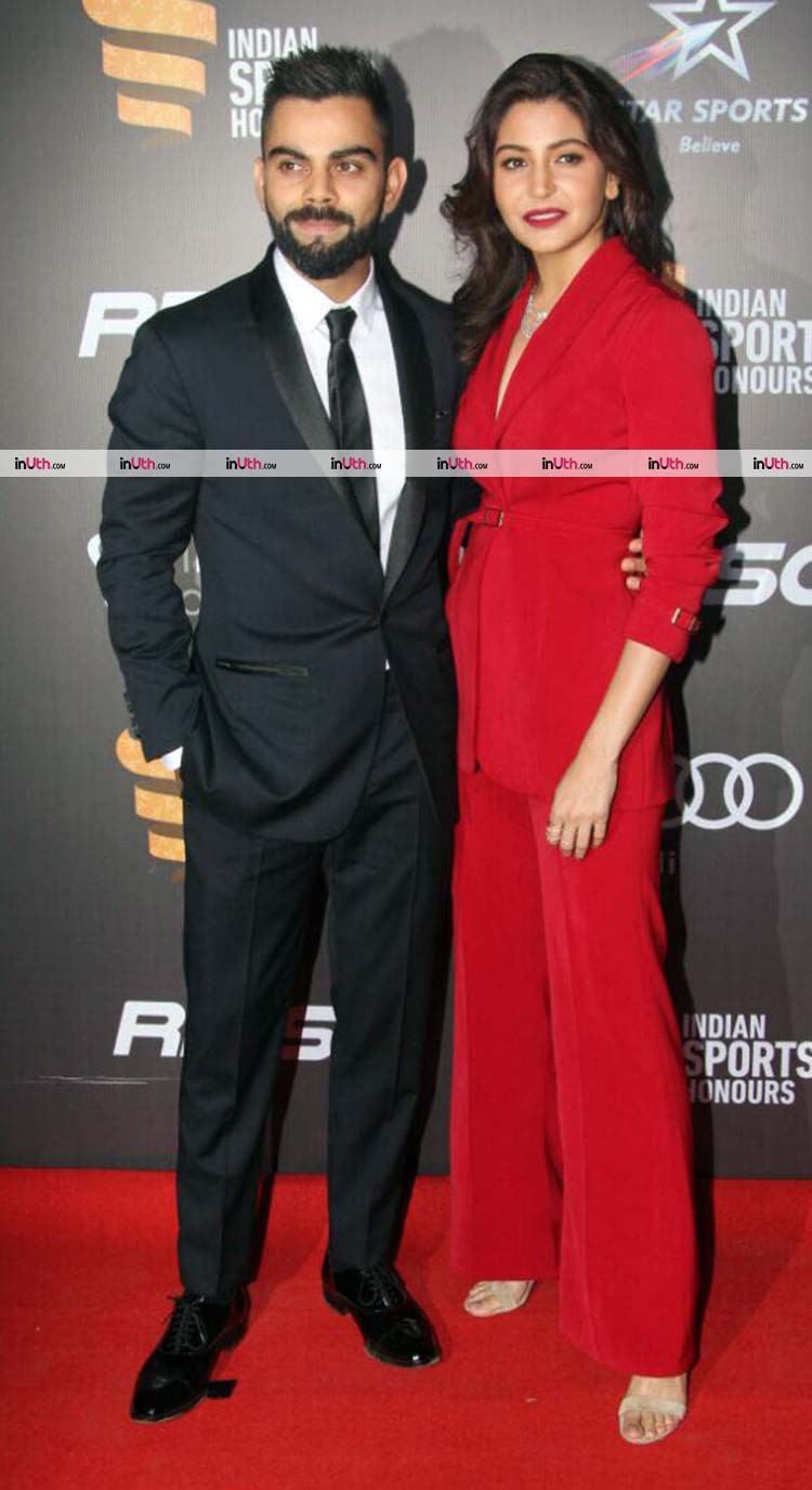 Virat Kohli and Anushka Sharma looked ravishing on the Indian Sports Honors red carpet