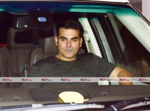 Arbaaz Khan at Salim Khan's birthday party