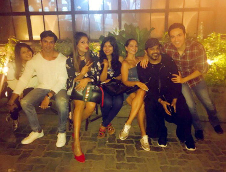 Bipasha Basu and Karan Singh Grover partying with their friends