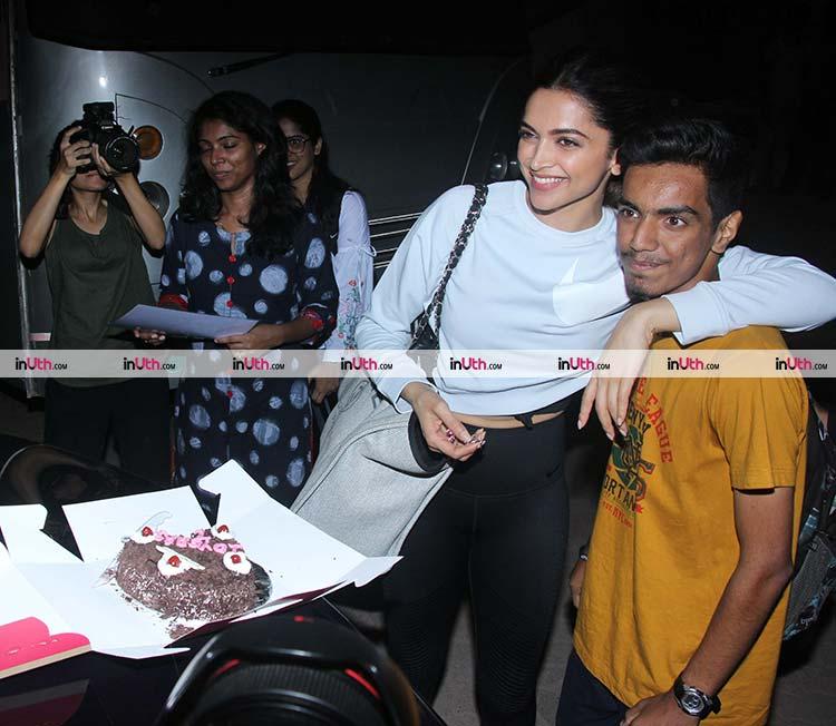 Deepika Padukone and fan spotted outside Mehboob studio