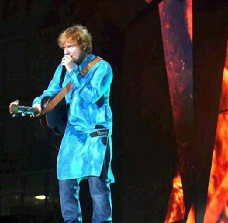 Ed Sheeran at Mumbai concert on Sunday