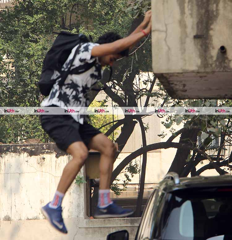 Ishaan Khatter spotted 'hanging' outside his gym