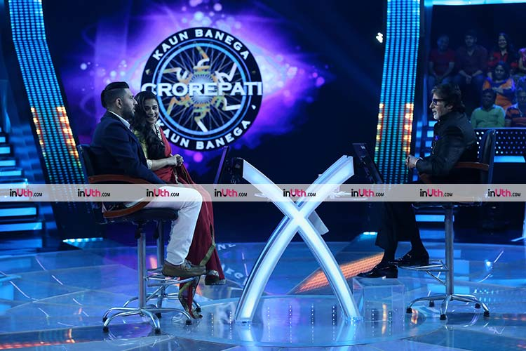 Vidya Balan and Yuvraj Singh on the Kaun Banega Crorepati 9 hot seat