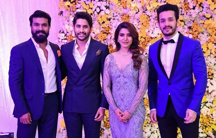 Actor Ram Charan at Samantha Ruth and Naga Chaitanya's wedding reception