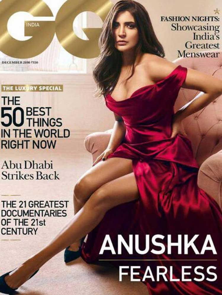Anushka Sharma on the December 2016 issue of the GQ magazine